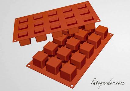 Moule silicone 15 mini-cubes Silicon Flex