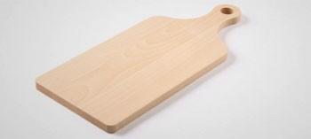 Planche à découper bois avec poignée