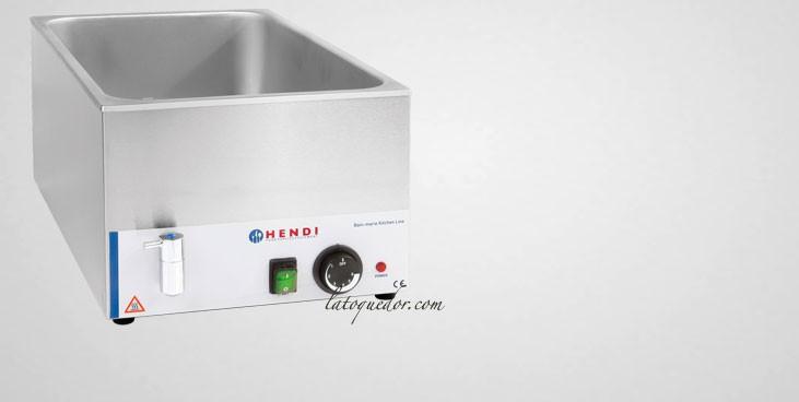 Bain marie électrique avec robinet de vidange GN1/1