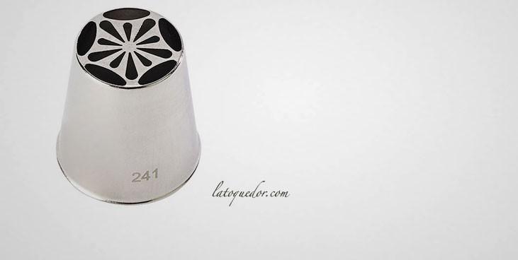 Douille inox décor fleur crocus n°1