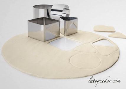 Ensemble de 4 cercles à pâtisserie inox