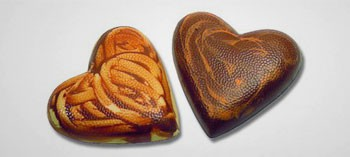 Moule à chocolat demi-cœur lisse