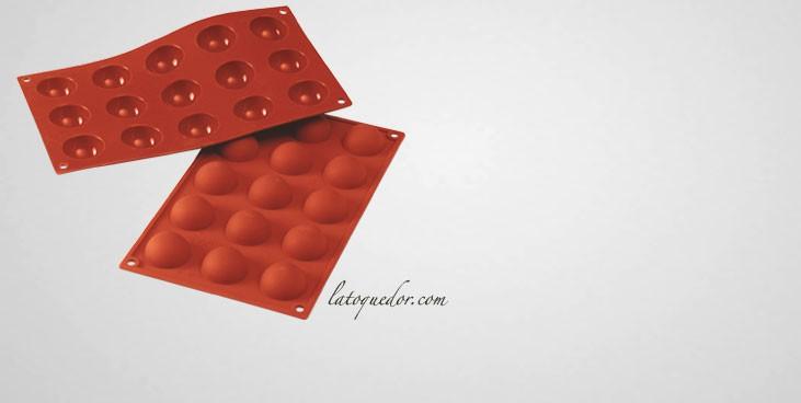 Moule silicone 15 demi-sphères Silicon Flex - 40 mm