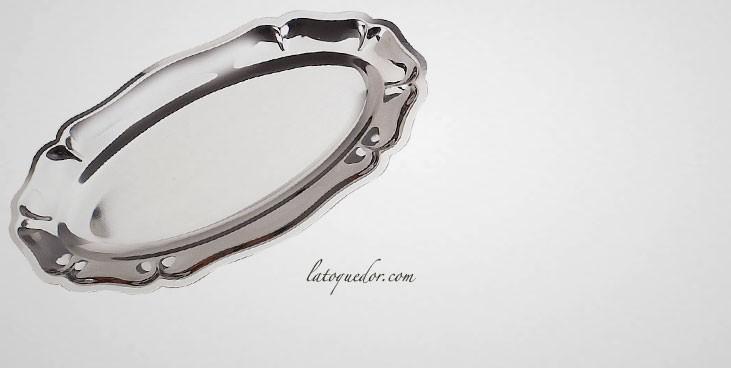 Plat ovale inox Régence Choc
