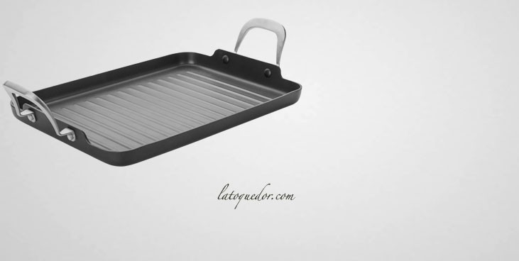 Grill rectangulaire anti-adhésif induction Titan