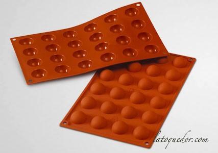 Moule silicone 24 demi-sphères Silicon Flex - 30 mm