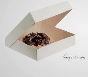 Boite à tarte blanche - H 5 cm