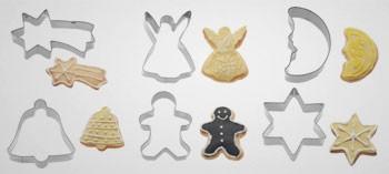 Découpoirs inox biscuits Noël (x6)