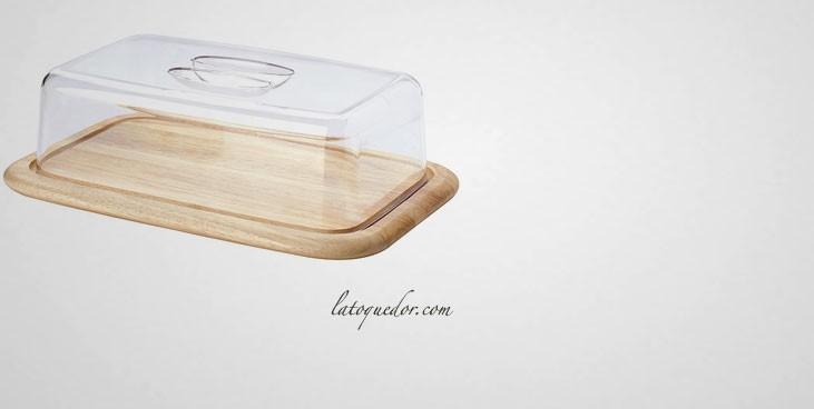 Plateau à fromage rectangulaire avec couvercle