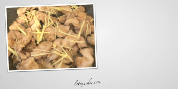 Poulet au gingembre