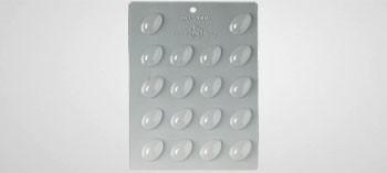Plaque moule à chocolat mini oeufs unis 3,5 x 2,5 mm