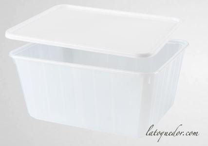 Barquette plastique opaque avec couverclex 75 cl - Cartybox