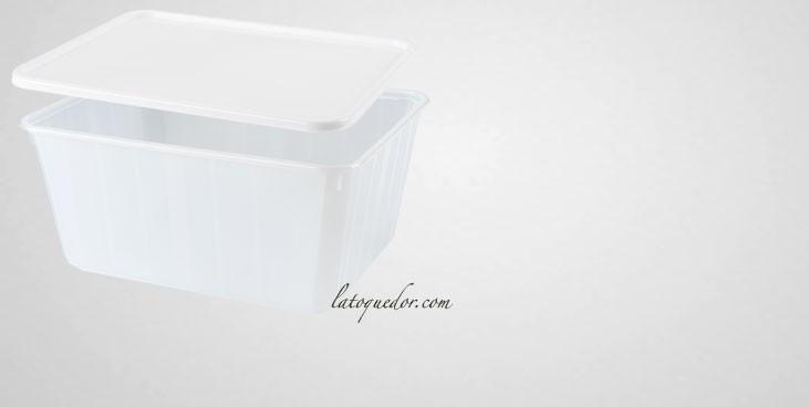 Barquette plastique opaque avec couvercle 75 cl - Cartybox
