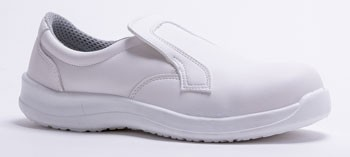 Chaussures de cuisine sécurité blanches Loafer