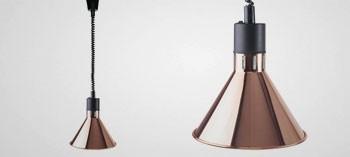 Lampe chauffante extensible conique finition cuivre