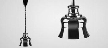 Lampe chauffante extensible finition chromé