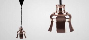 Lampe chauffante extensible finition cuivre
