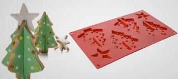 Moule silicone sapin de Noel 3D