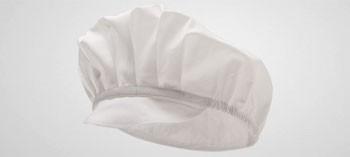 Casquette visière gavroche blanche