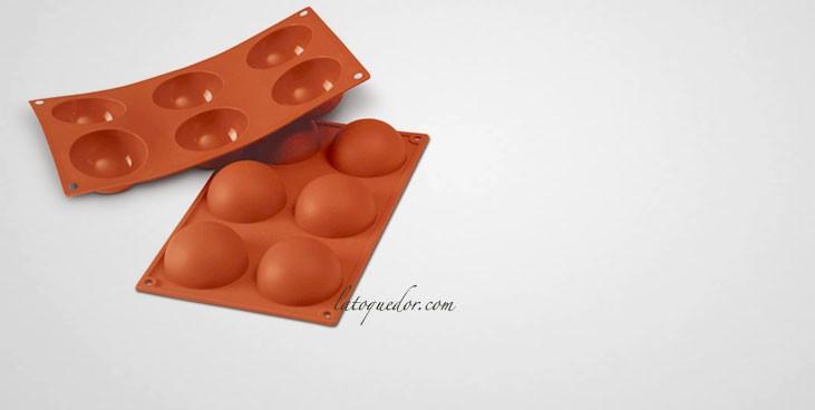 Moule silicone 6 demi sphères Silicon Flex - 70 mm