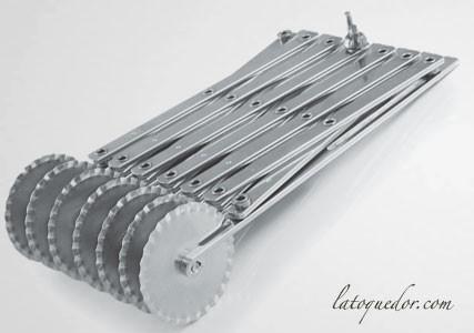 Rouleau multicoupe 5 roulettes cannelées