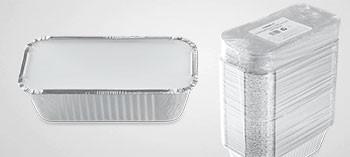 Barquette aluminium avec couvercle 1500 ml (x500)