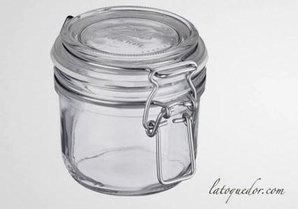 Bocal verre avec couvercle à charnière 500 ml