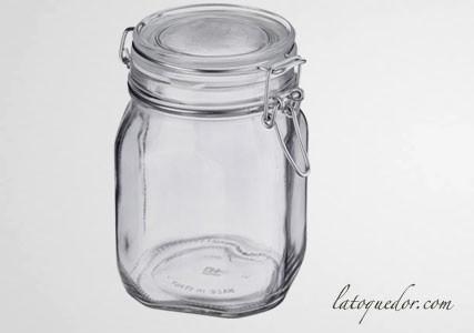 Bocal verre avec couvercle à charnière 2 L