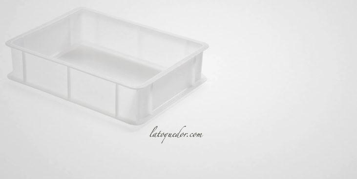 Bac à pâtons polyéthylène blanc 40x30 cm