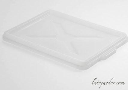 Couvercle pour bac à pâtons polyéthylène blanc 40x30 cm
