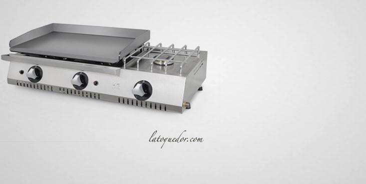 Plancha gaz acier rectifié avec réchaud ECON 600 - Fainca HR