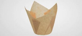 Caissettes papier Tulipcup écru (x200)