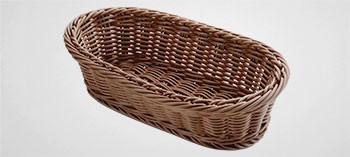 Corbeille à pain ovale en polypropylène marron