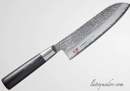 Couteau santoku japonais damassé Senzo Classic - Suncraft