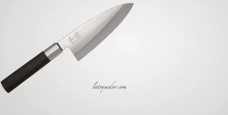 Couteau deba japonais Wasabi Black - Kaï