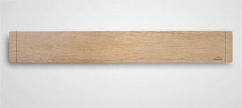 Barre aimantée en bois pour couteaux de cuisine