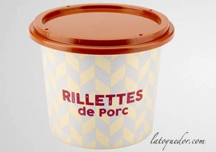 Pot à rillettes avec couvercle décor porc (x50)