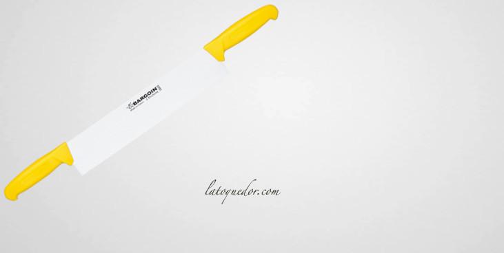 Couteau à fromage professionnel 2 manches jaune - Fischer