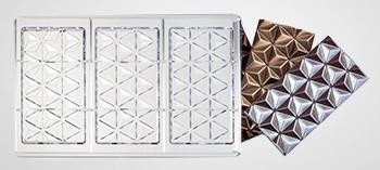 Moule tablette de chocolat forme pyramide