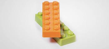 Moule chocolat Lego brique de 6
