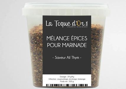 Mélange épices pour marinade saveur ail et thym