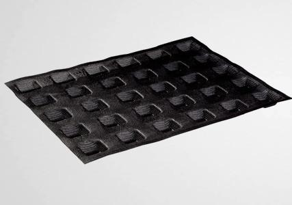 Moule silicone micro perforé 30 mini carrés 35x35 mm - Martellato (x2)