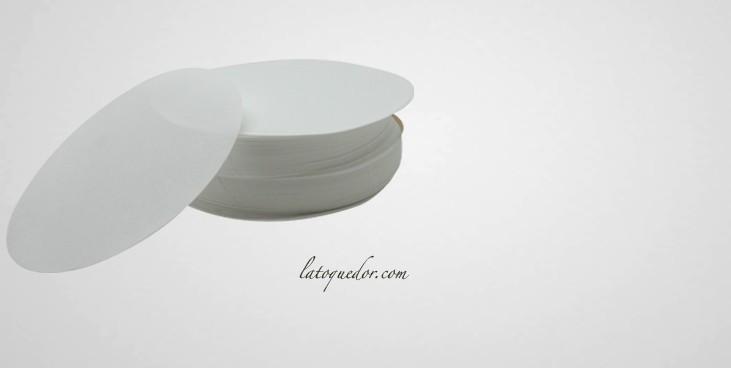 Papier à steak haché ovale paraffiné (x1000)