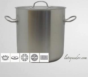 Marmite inox Chef Classic avec couvercle