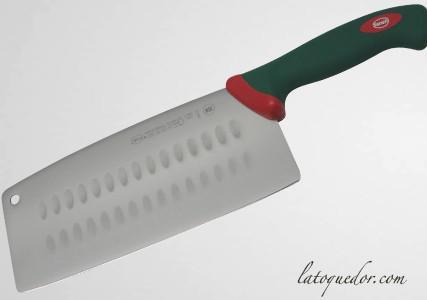 Couteau chinois alvéolé Sanelli