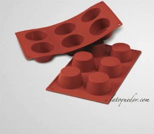Moule silicone 6 muffins Silicon Flex