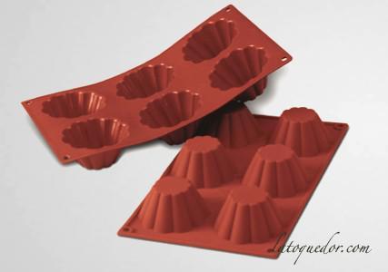 Moule silicone 6 briochettes Silicon Flex