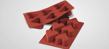 Moule silicone 6 cœurs Silicon Flex