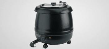 Marmite à soupe noire 10 litres