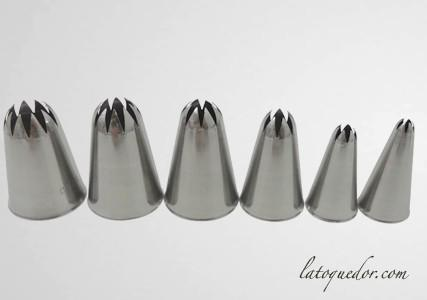 Set de douille à décorer cannelée ferme inox